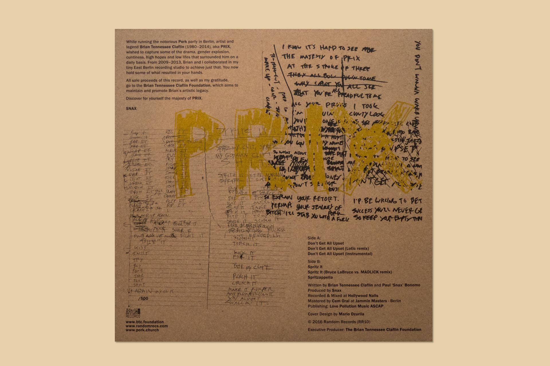 Mario Dzurila Vinyl LP Cover Design PRIX Lotic MADLICK Bruce LaBruce