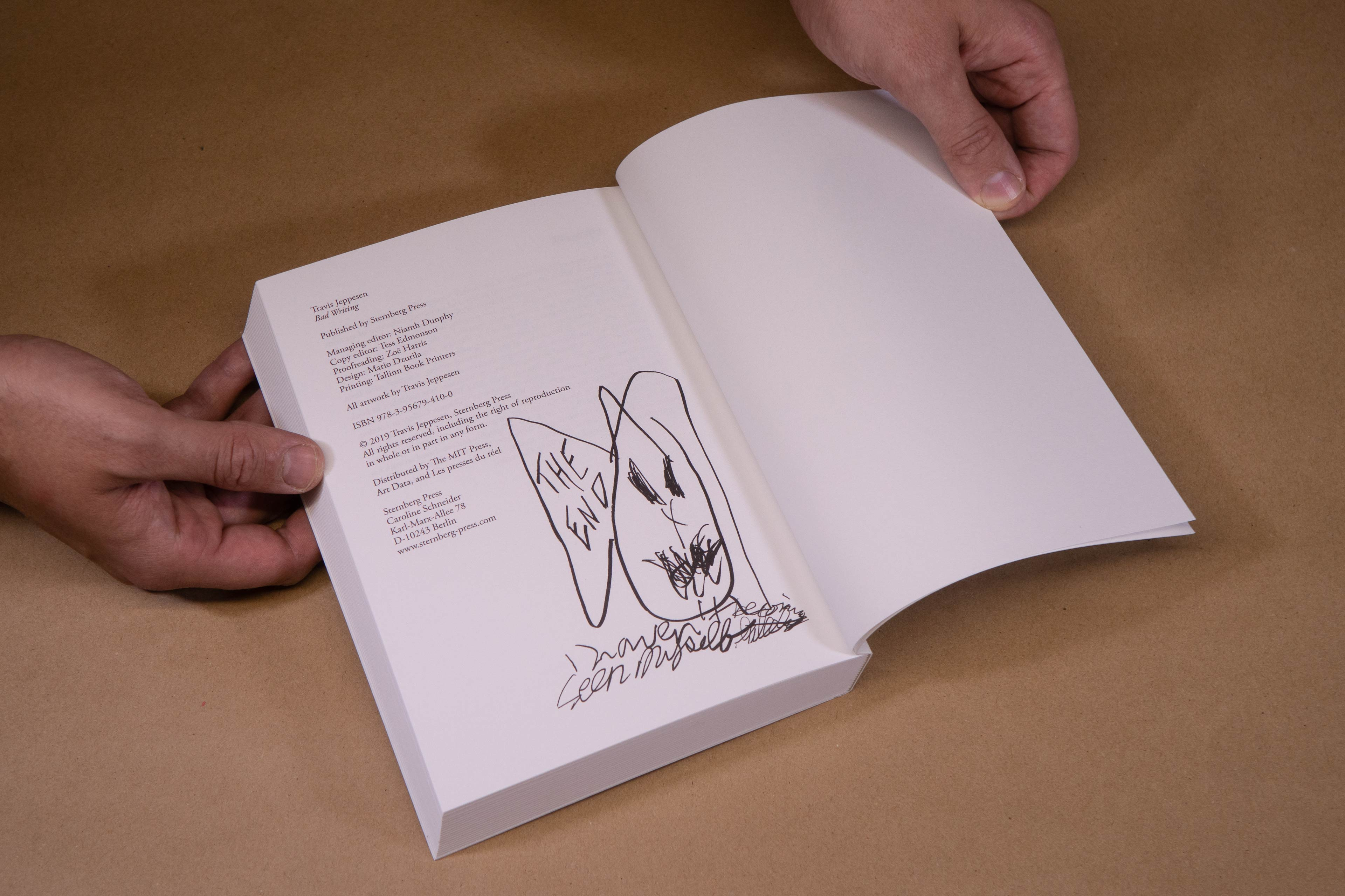 Travis Jeppesen Bad Writing Sternberg Press Book Cover Design Mario Dzurila
